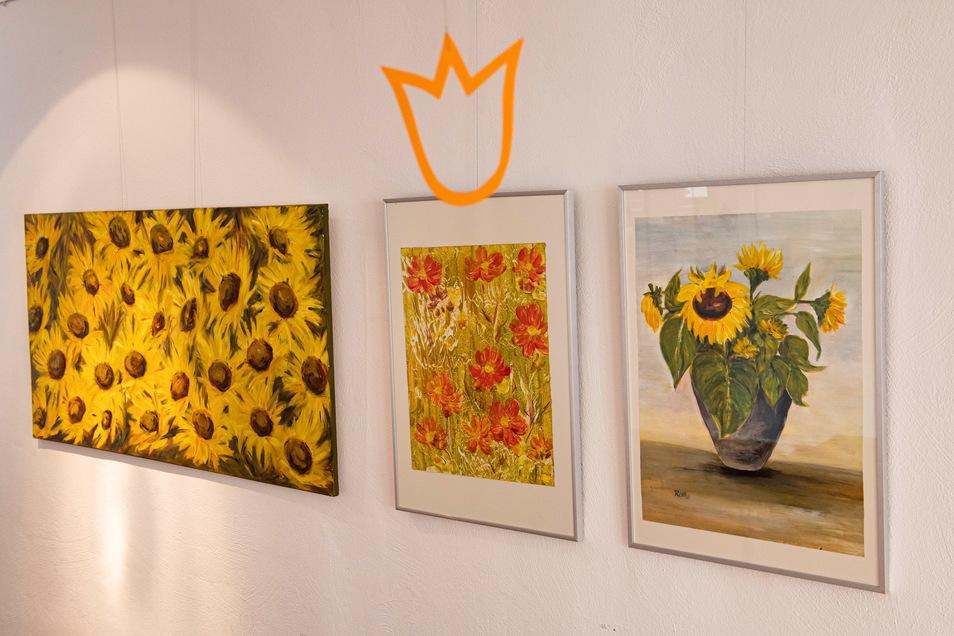Bilder von Petra Rothe und weiteren Hobbymalern werden derzeit in der Karl-Preusker-Bücherei gezeigt.