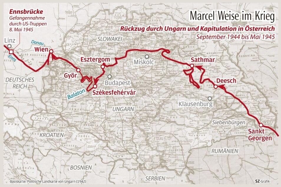Weises Marsch durch Nord-Ungarn. Die Rote Armee stößt Richtung Budapest und Wien nach.