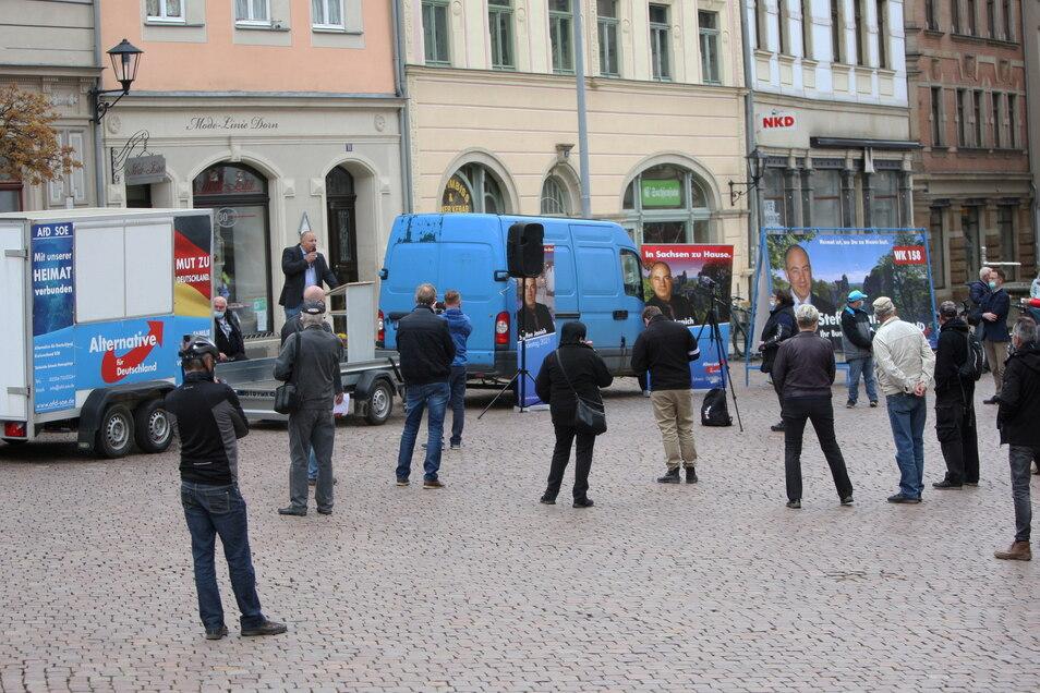 Hat die AfD ihren Zenit erreicht? Eine Veranstaltung dieser Partei am 1. Mai in Pirna.