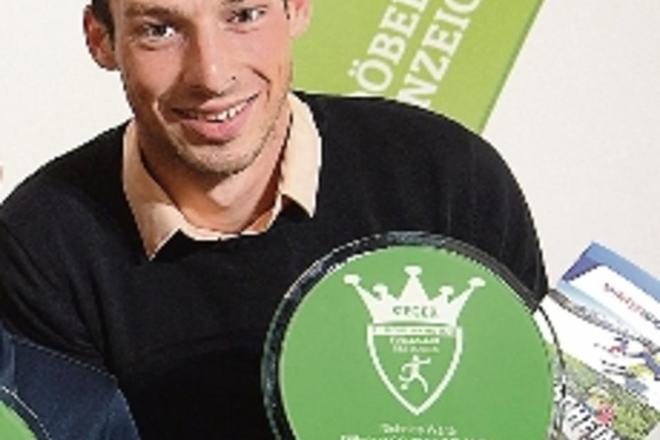 Der Fußballer des Jahres 2019, Nicholas Waite, ist heute noch stolz auf seine Ehrung.