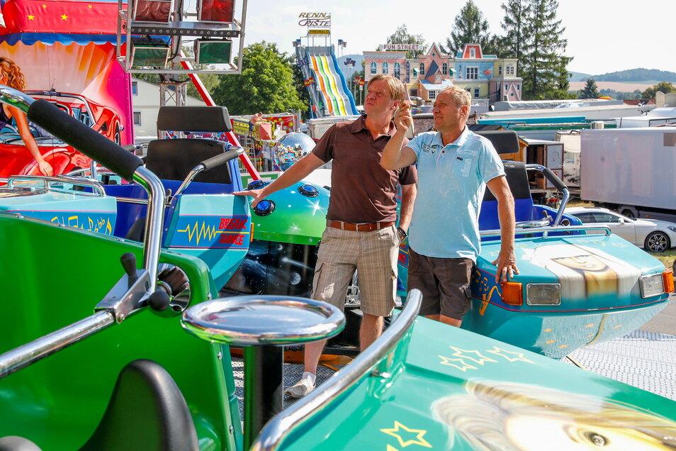 Jacobimarkt-Veranstalter René Linke (links) gibt trotz Pandemie noch nicht auf: Er kann das Volksfest auch kurzfristig auf die Beine stellen, wenn es eine Genehmigung gibt.