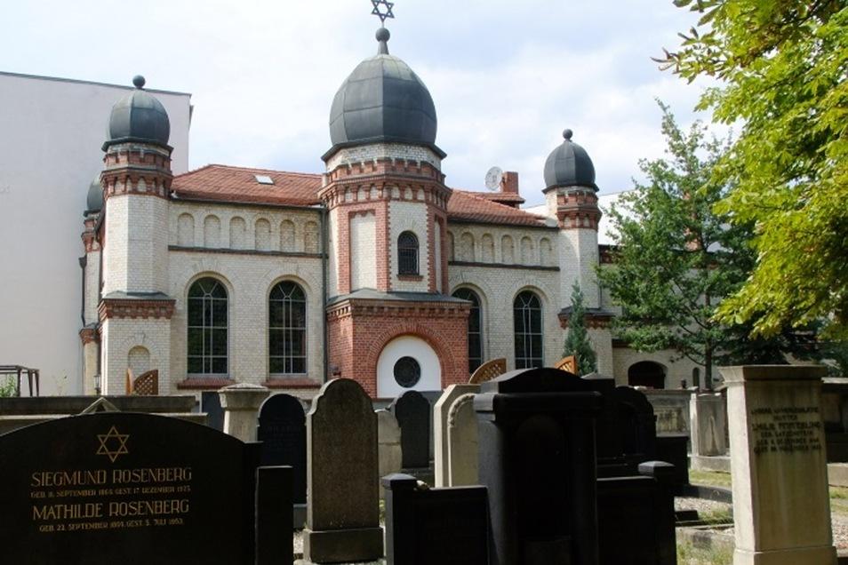 Die Synagoge in Halle.
