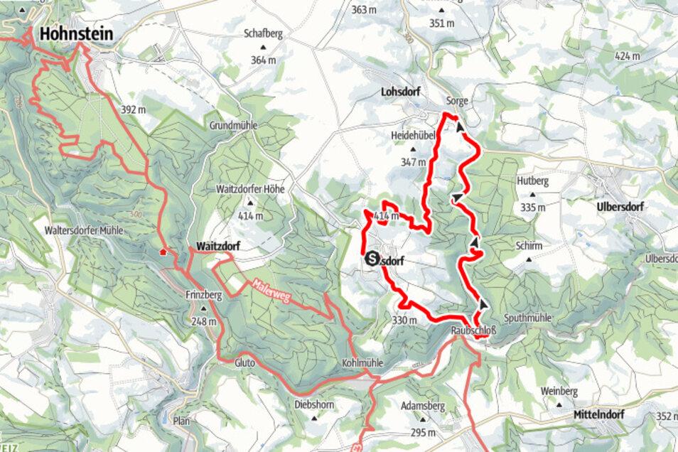 Tour 2: Fernblickwanderung rund um Goßdorf.