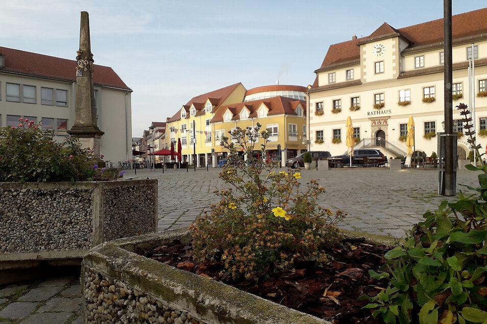 Marktplatz in der Altstadt von Hoyerswerda