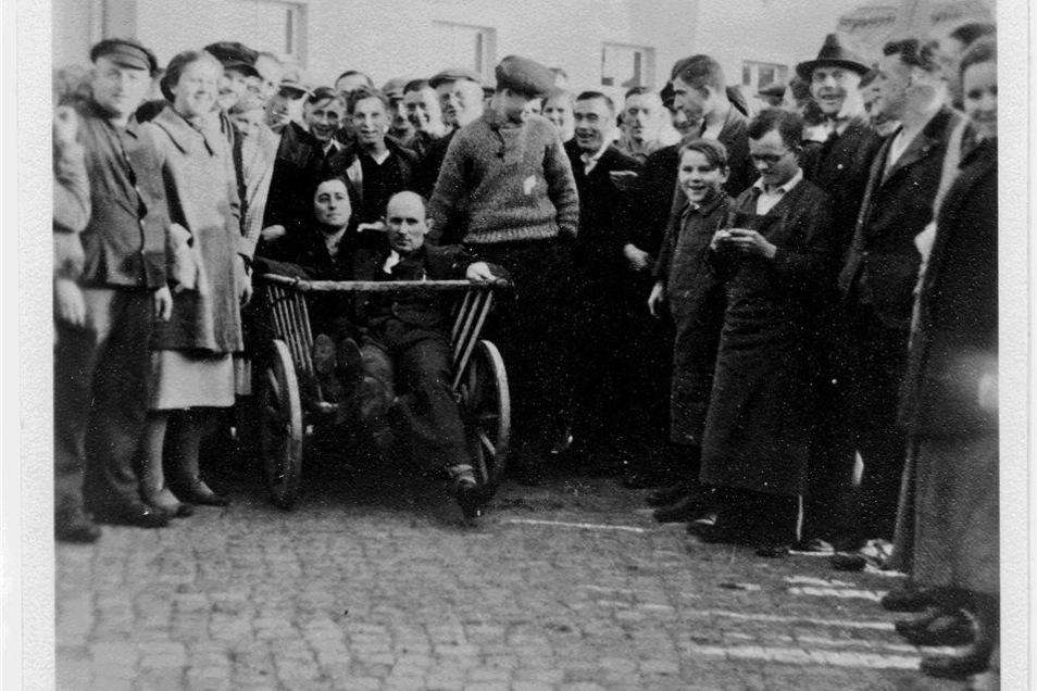 Ausschreitungen gegen eine jüdische Familie in Wilthen.