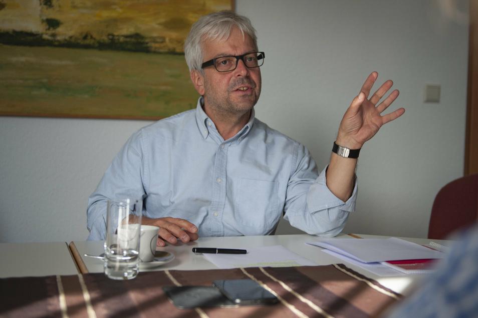 Thomas Gruschka, studierter Bergmann, übernahm im Jahr 2010 die Geschäftsführung des Kieswerkes Ottendorf-Okrilla.