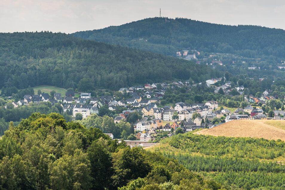 Blick auf die Stadt Bad Schlema. Auch das Erzgebirge verzeichnet einen Zuwachs an Besuchern.