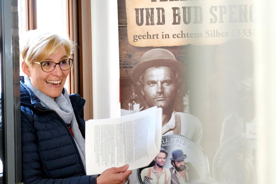 Bürgermeisterin Anita Maas in der neu konzipierten Ausstellung. Zu sehen ist sie in diesem Jahr aber noch nicht.