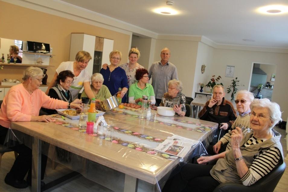 Die Bewohner fühlen sich im Betreuten Wohnen in der Heinrich-Heine-Straße in Hoyerswerda sehr wohl. Hier geht es wie in einer großen Familie zu.