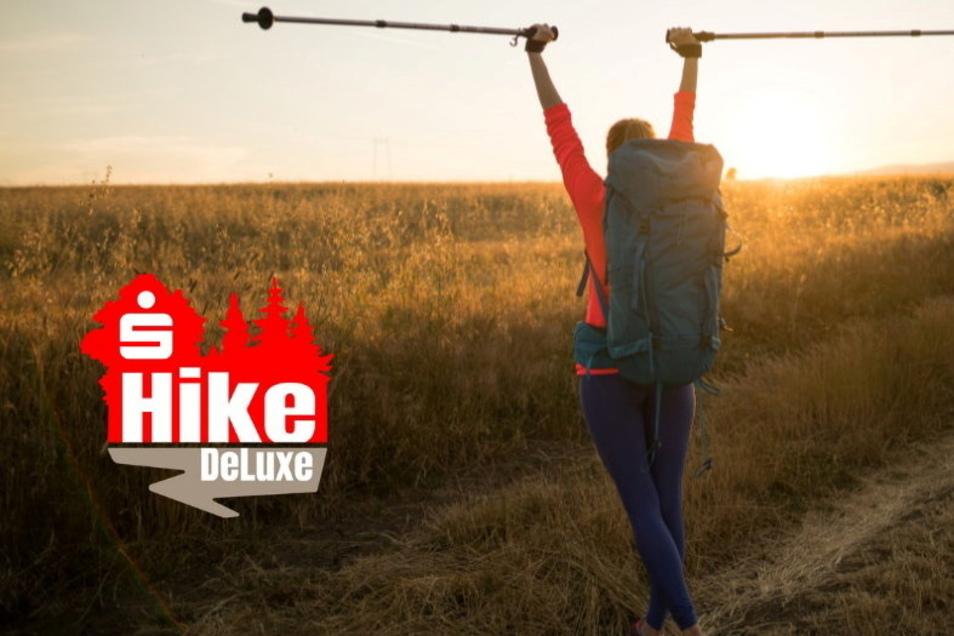 Mit diesem Plakat machen die Veranstalter Werbung für den Sparkassen-HikeDeLuxe.