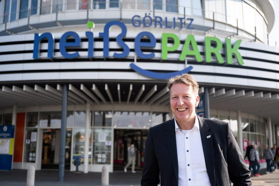 Das ist er, der neue Manager des Neißeparks Görlitz, Holger Wandrey, geboren in Hannover.