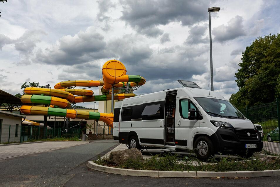 Der neue Caravan-Stellplatz am Hains ist noch recht unbekannt, wird aber trotzdem schon recht gut gebucht.