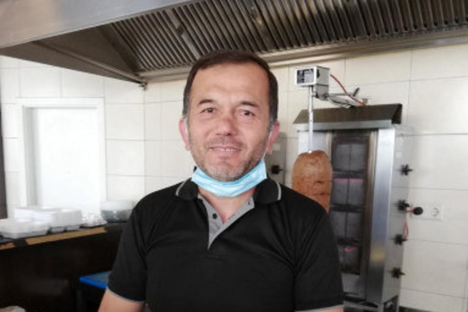 Ramazan Korkmaz, Mitarbeiter im Döner im City-Center Görlitz