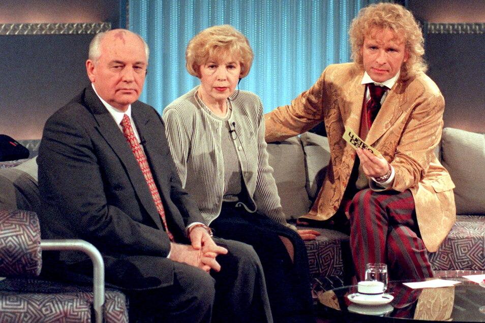 1996 waren Raissa und Michail Gorbatschow Gäste in der ZDF-Show «Wetten, dass..»