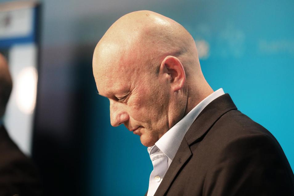 """""""Der Rücktritt ist unumgänglich"""", sagte Thomas Kemmerich am Donnerstag in Erfurt."""