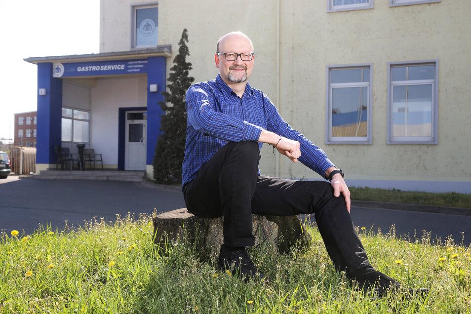 Holger Selle ist Chef des gleichnamigen Gastronomiebetriebs, der seinen Sitz am Stahlwerk Riesa hat.