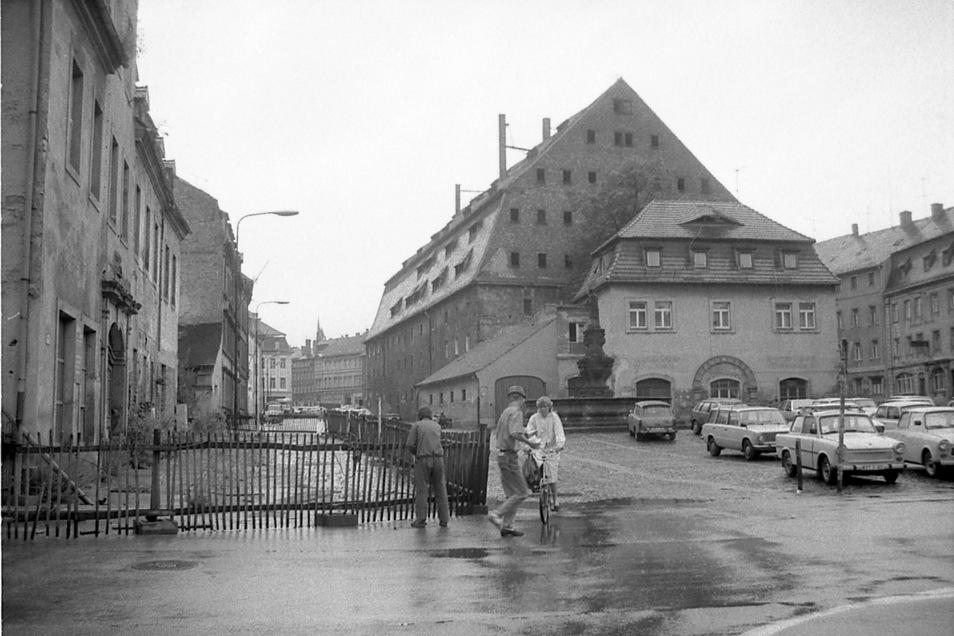 Die Zittauer Neustadt bot einen tristen Anblick um die Wendezeit, ...