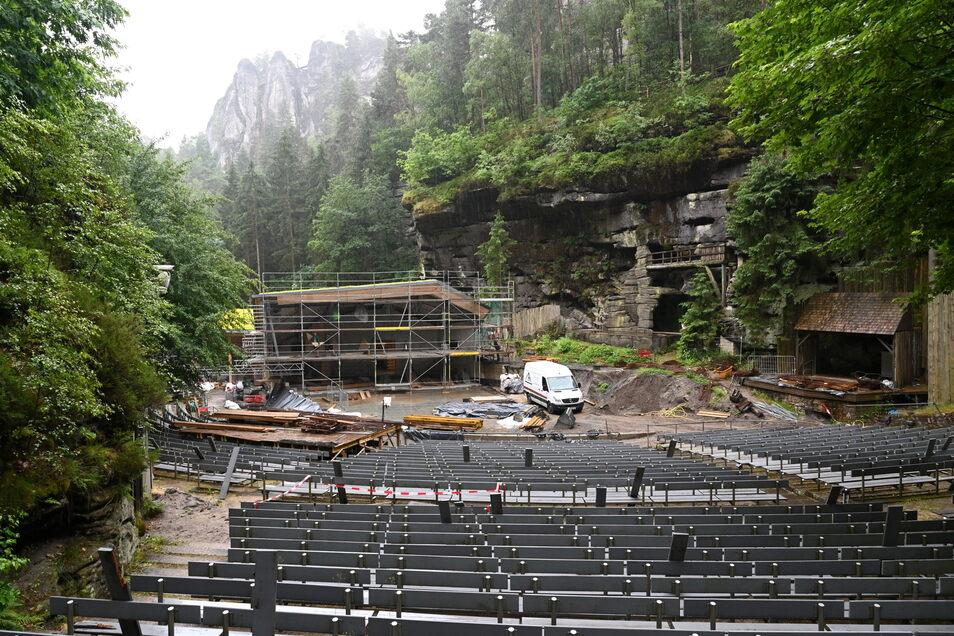 Der Blick zur Bühne hat wegen der Konzertmuschel künftig eine andere Anmutung als bisher.