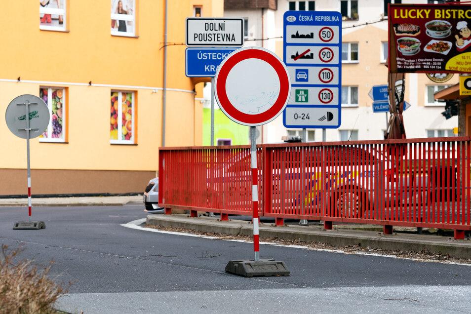 Grenzübergang Sebnitz. Hier will die Band Grenzgänger grenzüberschreitend musizieren.