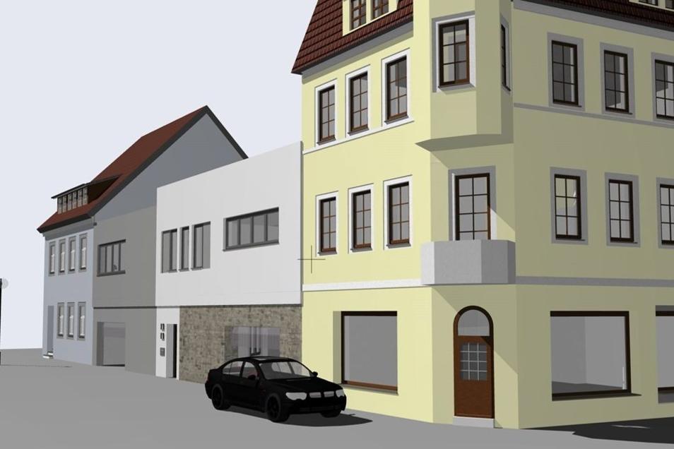So könnte die Ansicht von der Bautzener Straße aus aussehen.