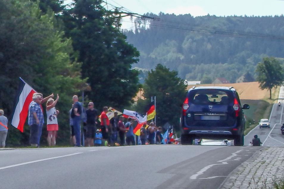 Die Proteste an der B96 prägen inzwischen häufig das öffentliche Bild der Oberlausitz.