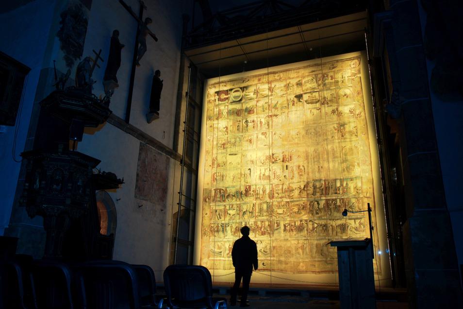 Das Große Zittauer Fastentuch kann aktuell nur virtuell besucht werden.