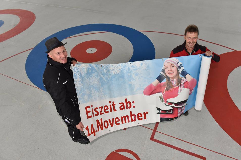 Zumindest die Öffnung der Eishalle für Besucher am 14. November steht nicht infrage.