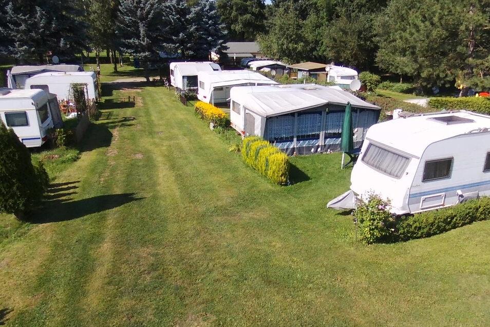 Der Campingplatz im Waldbad Oberau war in diesem Jahr wieder gut besucht. Durch die Sanierung des Sanitärgebäudes verbessern sich auch für die Camper die Bedingungen.