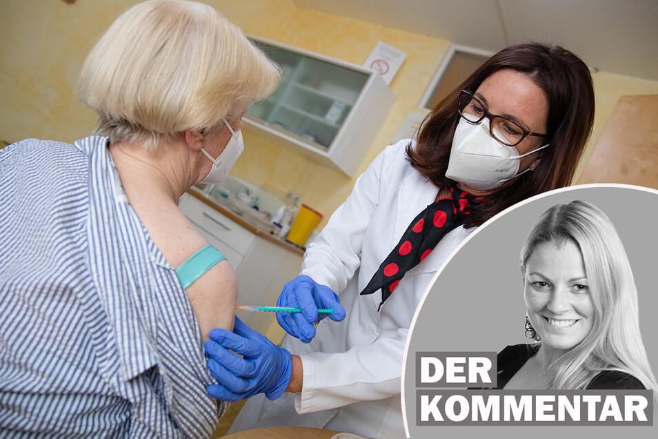 Viele Menschen bevorzugen Impfstoffe von Biontech und Moderna.