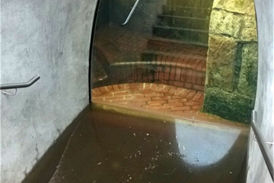 Nach einer ersten Überprüfung der Stadtentwässerung Dresden handelt es sich um Regenwasser.