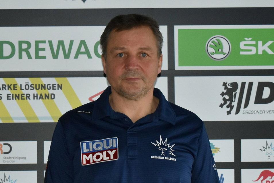 Der Neue in Dresden: Andreas Brockmann trainiert ab sofort die Eislöwen.