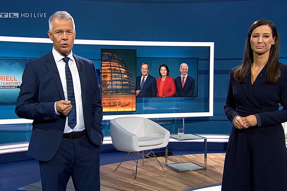 Peter Kloeppel und Pinar Atalay wollten wissen, wie es die Kanzlerkandidaten mit Ostdeutschland halten.