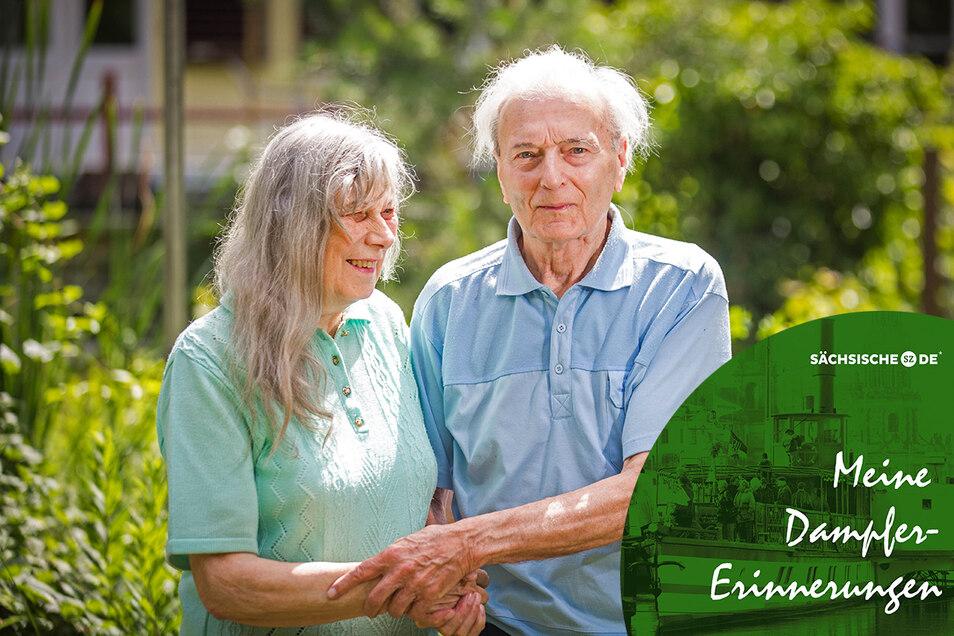 Margot und Joachim Becker kamen sich vor 65 Jahren auf einem Elbdampfer näher.