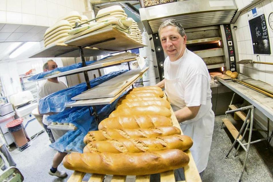 Uwe Kopke ist jetzt Inhaber der Landbäckerei Gerber in Förstgen. In den 1980er Jahren hat er hier gelernt.