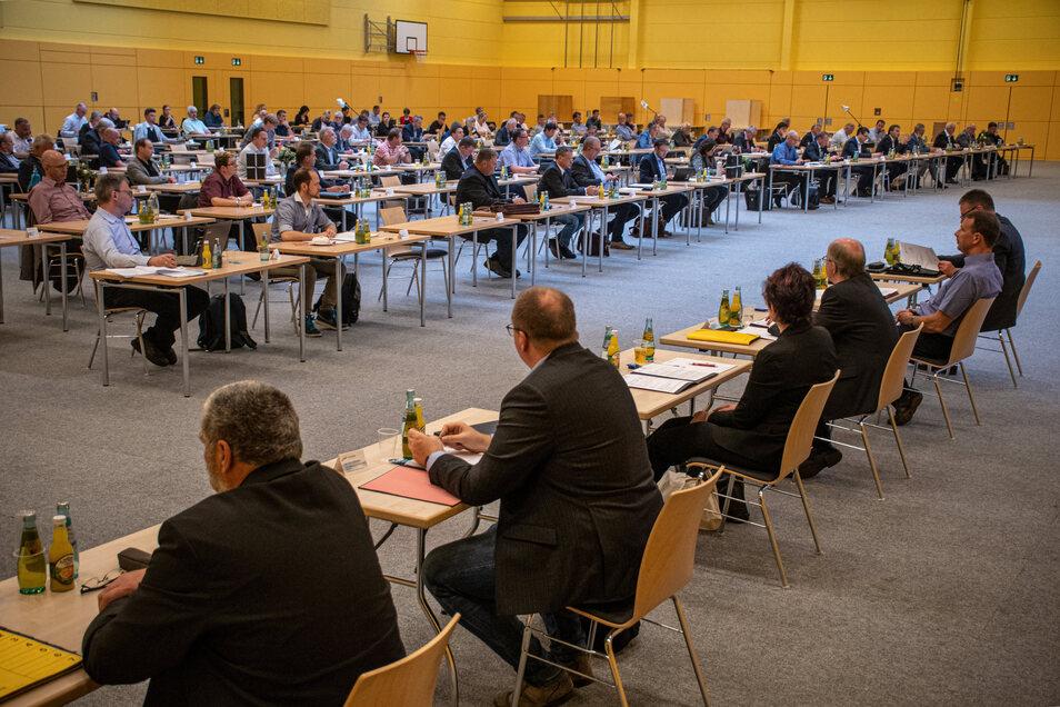 Der Kreistag des Landkreises Mittelsachsen im Mai 2020 fand am Mittwoch in der Hartharena statt.