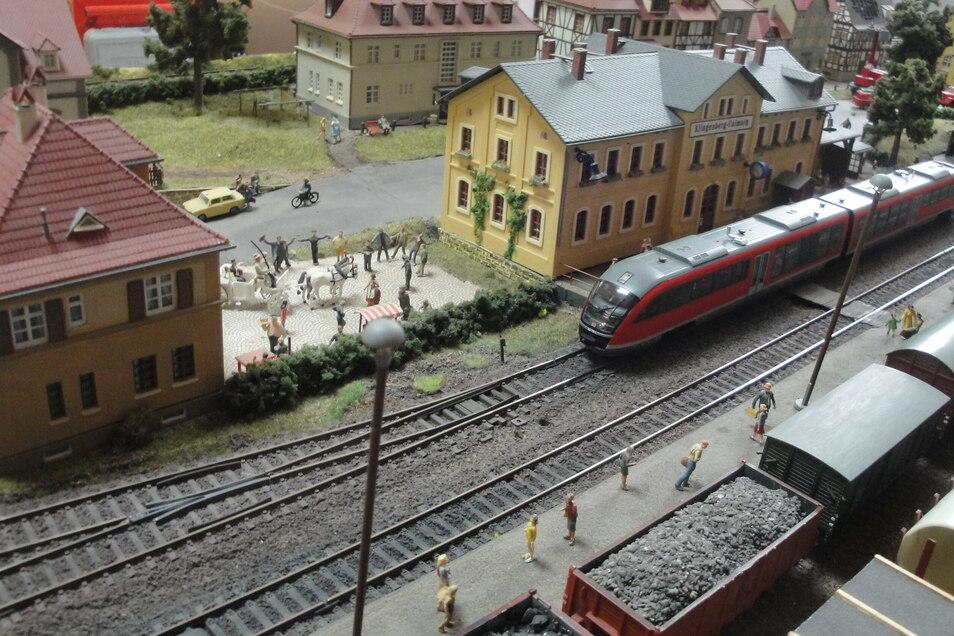 Der Blick auf die Vereinsanlage der Dippser Modelleisenbahner bleibt Besuchern dieses Jahr verwehrt.