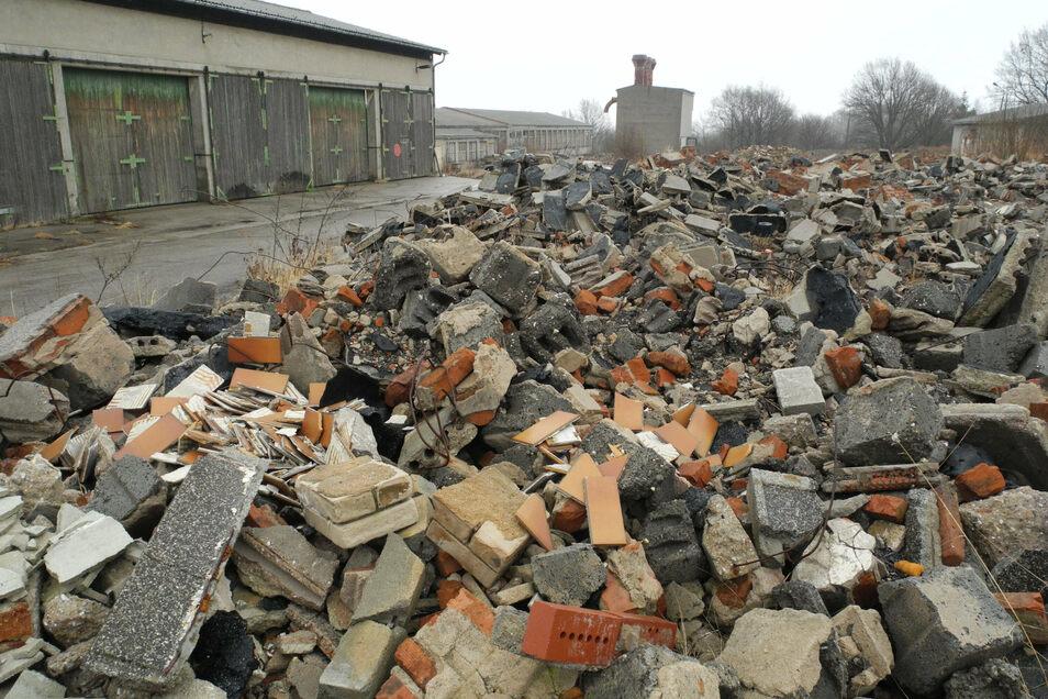 Bauschutt - wie hier vom früheren Möbelwerk Döbeln - nimmt in Deutschland überhand. Deshalb musste auch der Zweckverband Abfallwirtschaft Oberes Elbtal seine Preise drastisch erhöhen.