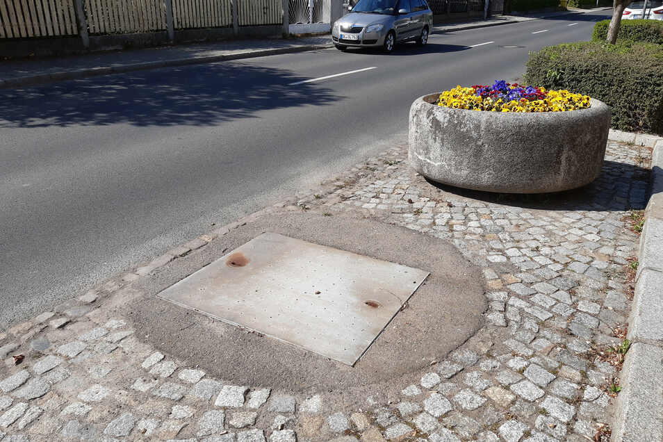 Aus diesem Kanal an der Chemnitzer Straße in Leisnig dringen unangenehme Gerüche. Der Eigenbetrieb Abwasserentsorgung hat Gegenmaßnahmen eingeleitet.