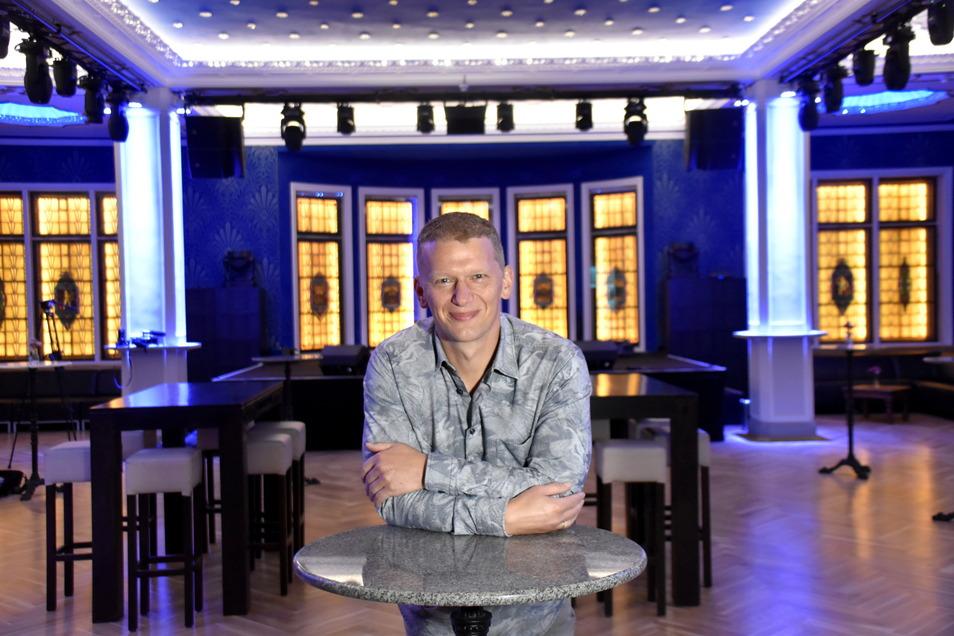 Jens Hewald, der Besitzer des Parkhotels, hofft, dass es bald wieder richtig losgehen kann mit den verschiedensten Veranstaltungen im Blauen Salon.
