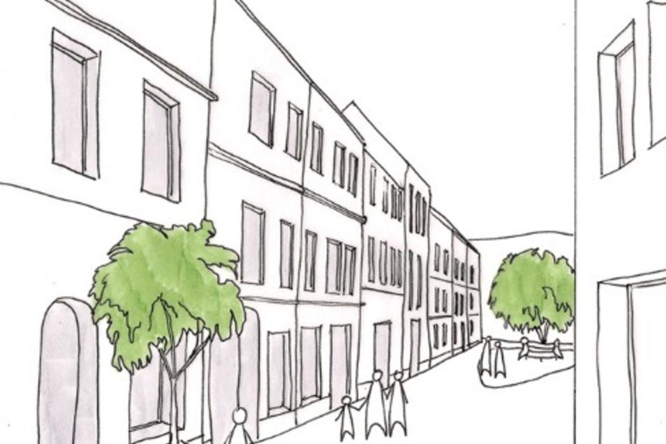 Die maroden Häuser am Mandauer Berg könnten durch moderne ersetzt werden.