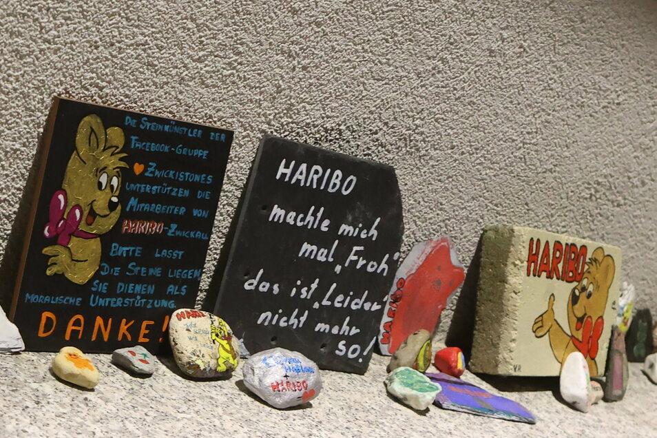Protest gegen die Schließung des Werkes in Wilkau-Haßlau.