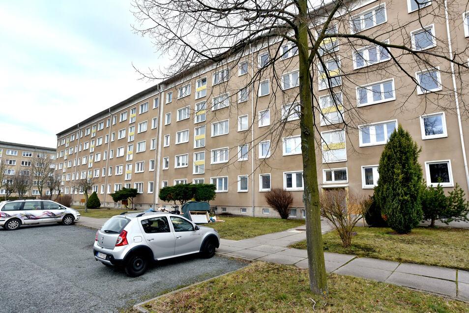 Die Straße der Freundschaft 10-22 in Zittau-Ost.