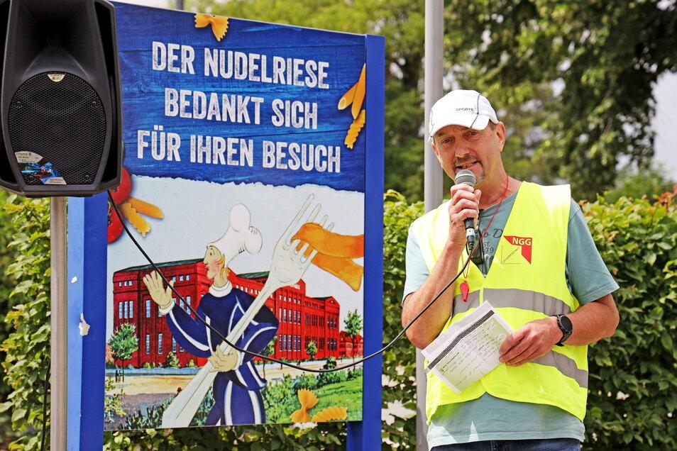 Frank Meyer leitet den Betriebsrat der Teigwaren Riesa.