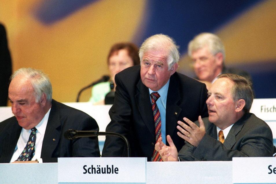 1998 mit dem damaligen CDU/CSU Fraktionschef Wolfgang Schäuble