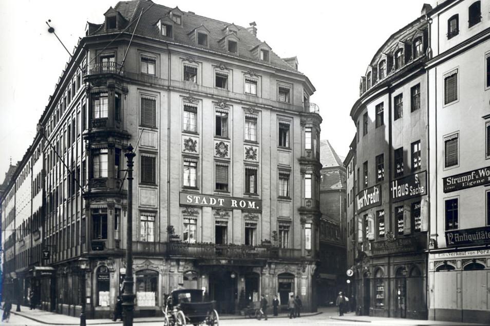 So sah das Hotel Stadt Rom einst aus.