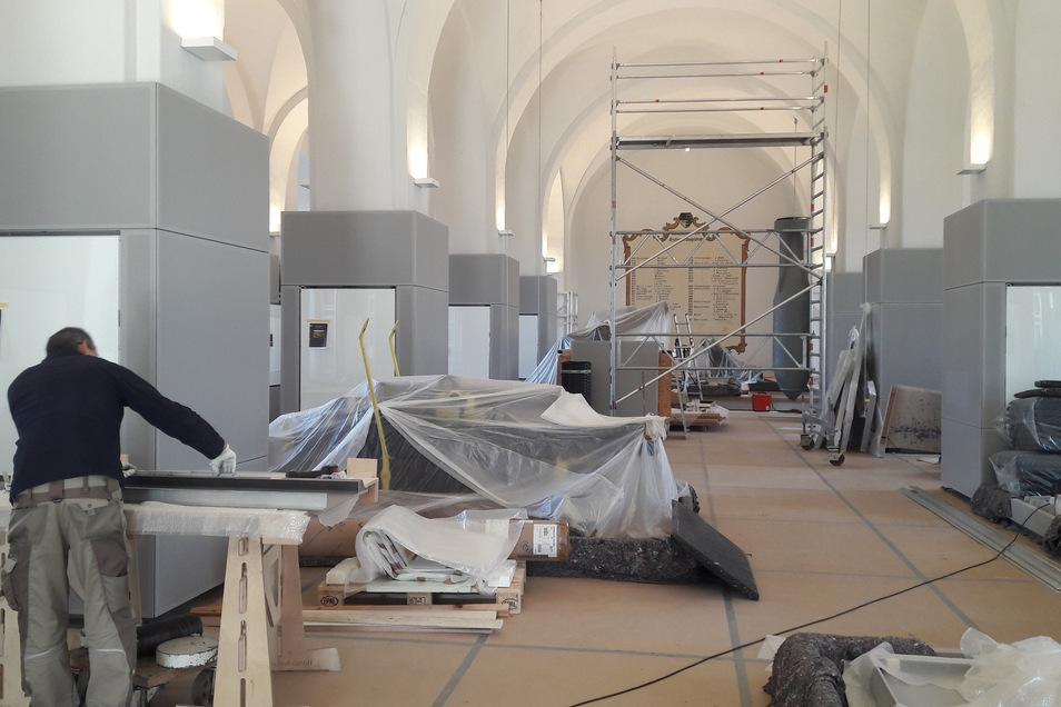 """Im Neuen Zeughaus wird jetzt die Ausstellung """"Faszination Festung"""" installiert. Baukosten: mehr als 1,4 Millionen Euro."""