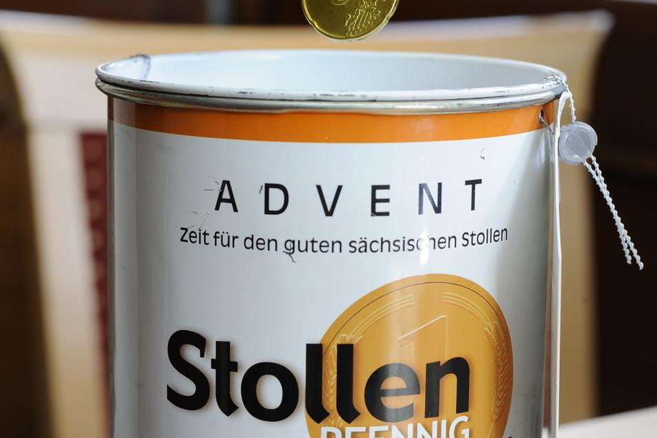 Seit Mitte November bitten auch in Großenhain Bäcker um den Stollenpfennig. Das ist eine Aktion von Diakonie und Landesbäckerinnung für Brot für die Welt.