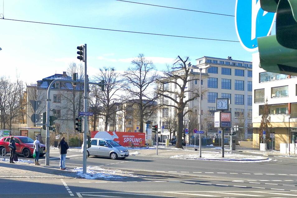 So präsentiert sich das Dreieck von Schandauer, Altenberger und Bärensteiner Straße derzeit.