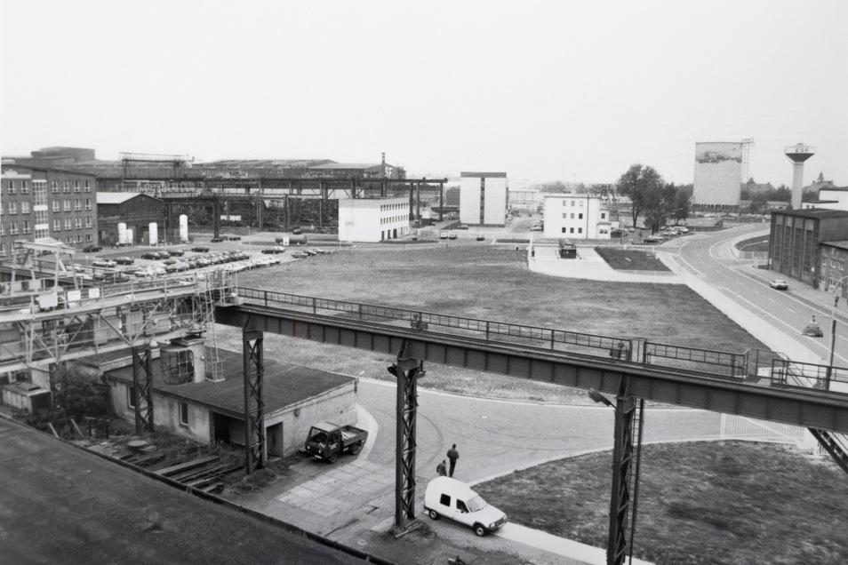 So sah das Riesaer Stahlwerk in den 1990ern aus. Wo zu DDR-Zeiten Tausende Menschen Arbeit fanden, sind es heute immerhin wieder mehr als 700.