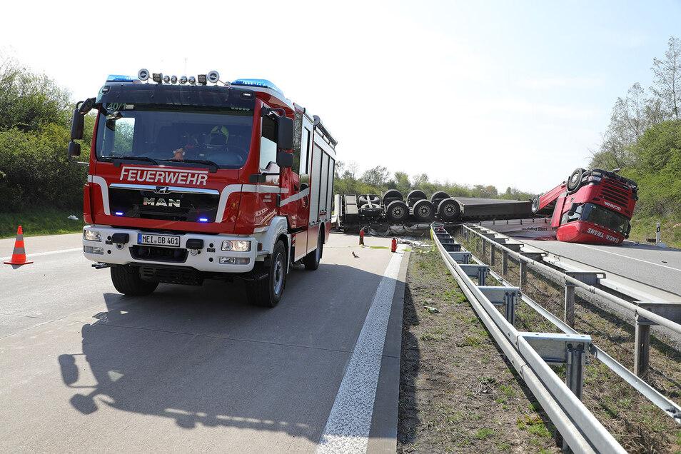 Unfall A4 Dreieck Nossen 24. April